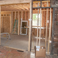 New construction being added to old home