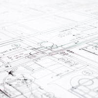 Close-up of architectural blueprint