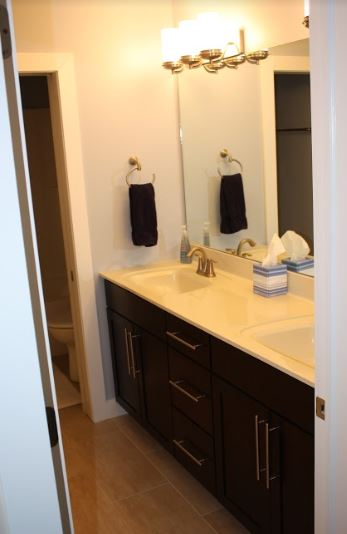 double sink counter top