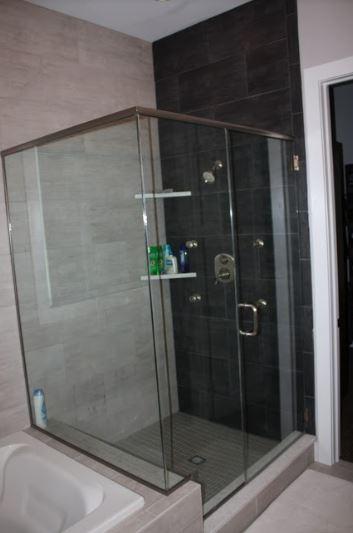 glass framed shower