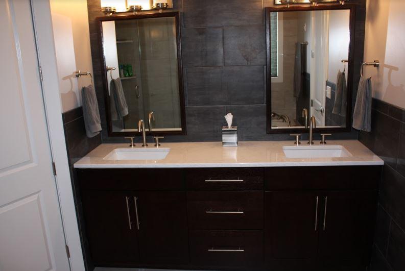 new hardwood vanity