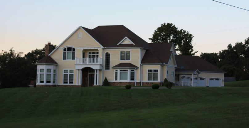 large newly constructed home