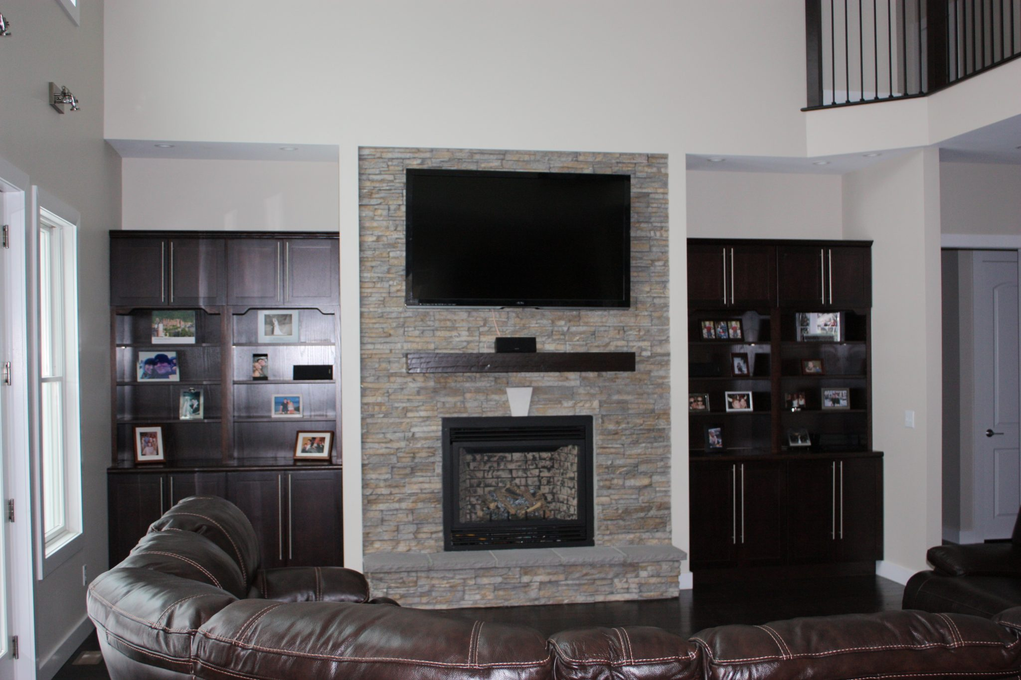 fireplace built into wall