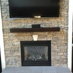 close up of newly built fireplace